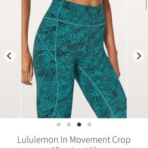 Lululemon Everlux In Movement Crop 19""
